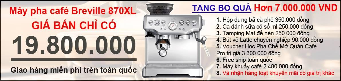Khuyến mãi giảm giá mua máy pha cà phê Breville