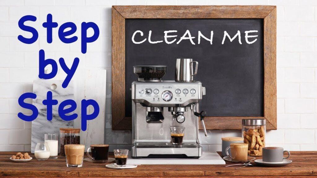 Cạo sạch cặn máy pha cà phê Breville làm như thế nào?